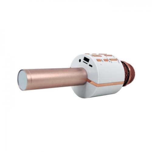 Караоке-микрофон беспроводной KTV-V8 розовое золото