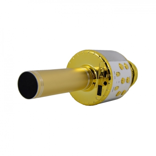 Караоке-микрофон беспроводной WS-858L золотой