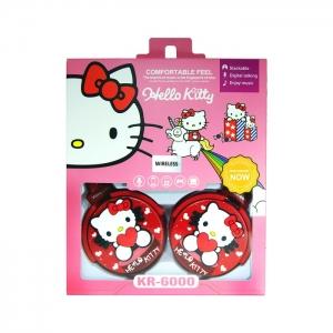 Беспроводные наушники накладные KR-6000 Hello Kitty красные