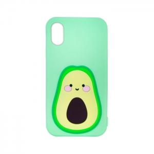Чехол-игрушка для Apple iPhone X/Xs Авакадо зеленый