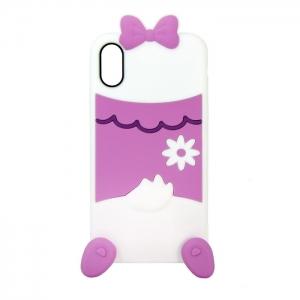 Чехол-игрушка для Apple iPhone X/Xs Белая уточка