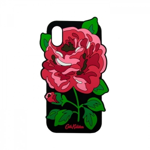 Чехол-игрушка для Apple iPhone X/Xs Роза на черном