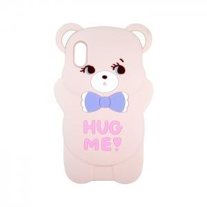 Чехол-игрушка для Apple iPhone X/Xs Розовый медвежонок
