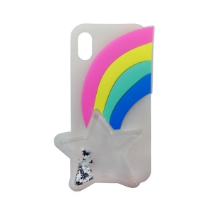 Чехол-игрушка для Apple iPhone X/Xs Звезда и радуга