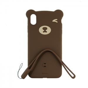 Чехол-игрушка Baseus для Apple iPhone Xs Max медведь коричневый