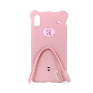 Чехол-игрушка Baseus для Apple iPhone Xs Max медведь розовый