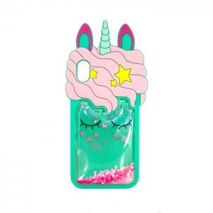 Чехол-игрушка для Apple iPhone Xs Max Спящий Единорог мятный