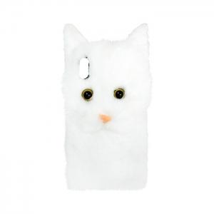 Чехол-игрушка для Apple iPhone Xs Max Пушистый котенок белый