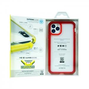 Накладка ITSKINS SUPREME CLEAR для iPhone 11 Pro Max прозрачный/красный
