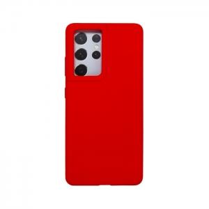 Накладка Deppa Liquid Silicon Pro 870017 для Samsung S21 Ultra/G998B красная