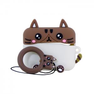 Чехол Deppa для AirPods Pro 47303 кот с карабином