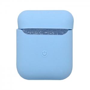 Чехол силиконовый для AirPods 1/2 голубой
