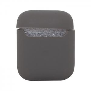 Чехол силиконовый для AirPods 1/2 серый