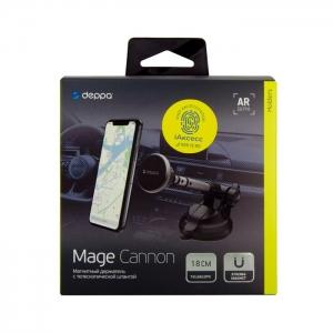 Автомобильный держатель магнитный Deppa Mage Cannon 55180 (торпеда/стекло)