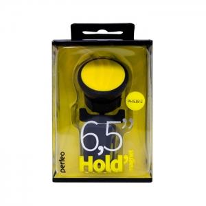 Автомобильный держатель магнитный Perfeo PH-518-2 (воздуховод) черный/желтый