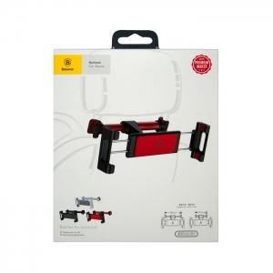 Автомобильный держатель для планшетов раздвижной Baseus SUHZ-91 черно-красный (подголовник)