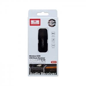 Автомобильный AUX Bluetooth адаптер Earldom ET-M22 (3.5mm USB выход) черный