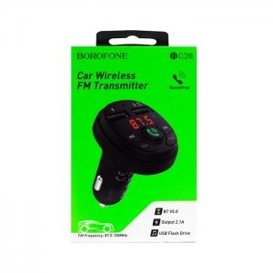 FM трансмиттер Borofone BC26 черный