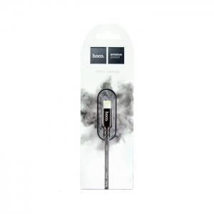 Кабель USB lightning для iPhone/iPad HOCO X14 2м плетеный (черный)