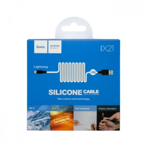 Кабель USB lightning для iPhone/iPad HOCO X21 1m (белый)