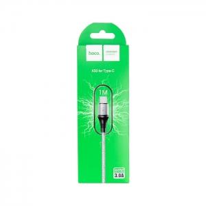 Кабель USB Type-C HOCO X50 3A 1м плетеный (серый)