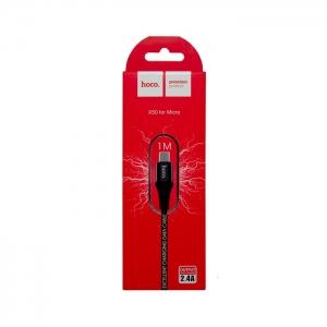 Кабель USB Micro HOCO X50 2.4A 1м плетеный (черный)