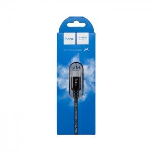Кабель USB Type-C HOCO X14 3A 2m плетеный (черный)