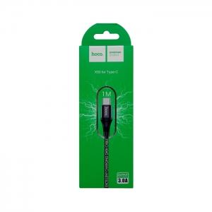 Кабель USB Type-C HOCO X50 3A 1м плетеный (черный)