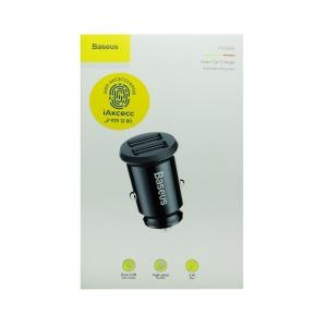 Автомобильное зарядное устройство Baseus CCALL-ML-01 3.1 A (черное)