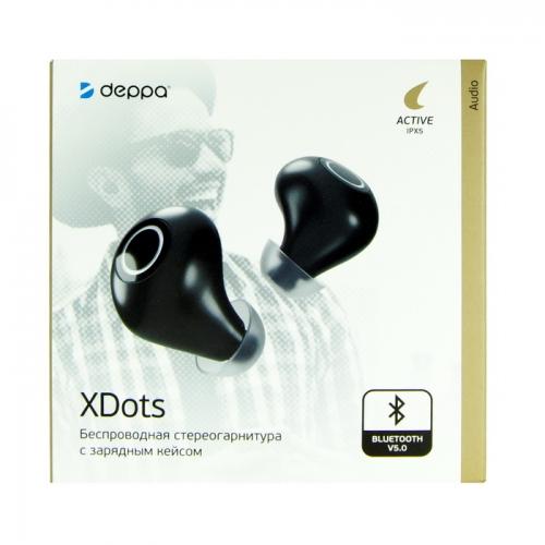 Беспроводные наушники TWS Deppa XDots 44163 (черные)