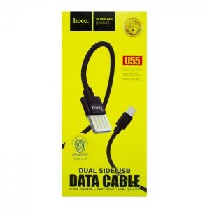Кабель USB Micro HOCO U55 1.2m плетеный (черный)