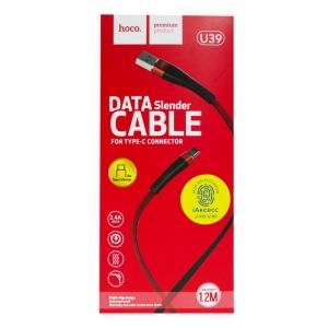 Кабель USB Type-C HOCO U39 1.2m (красно-черный)