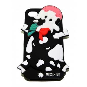 Чехол-игрушка для iPhone 4/4S Корова Москино