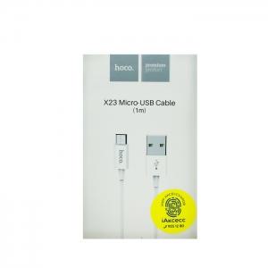 Кабель USB Micro HOCO X23 1m (белый)