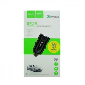 Автомобильное зарядное устройство HOCO Z32 3.0 A (черное)