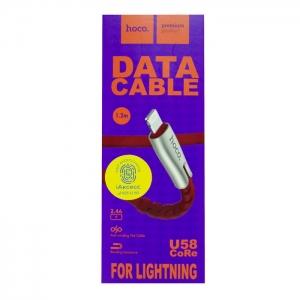 Кабель USB lightning для iPhone/iPad HOCO U58 CoRe 1.2м (красный)