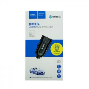 Автомобильное зарядное устройство HOCO Z32 3.0 A (ультра-черное)