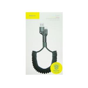 Кабель USB lightning для iPhone/iPad Baseus CALSR-01 пружинка 1m (черный)