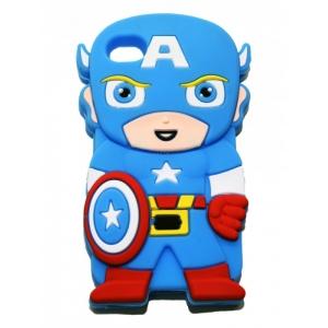 Чехол-игрушка для iPhone 4/4S Капитан Америка