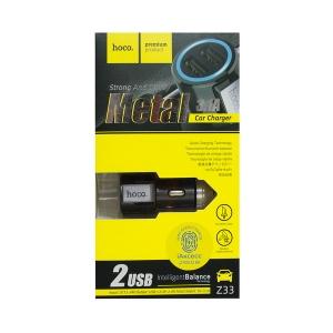 Автомобильное зарядное устройство HOCO Z33 3.1 A (черное)