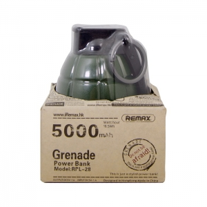 Внешний аккумулятор Remax RPL-28 5000mAh Grenade (зеленый)