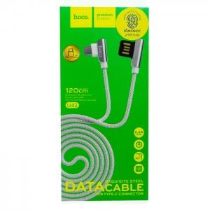 Кабель USB Type-C HOCO U42 1.2m плетеный (серый)