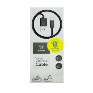Кабель USB lightning для iPhone/iPad Baseus CALUN-01 1m (черный)