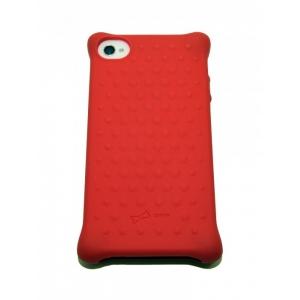 Чехол-игрушка для iPhone 4/4S Bone Collection Red