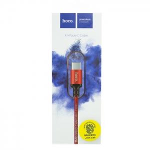 Кабель USB Type-C HOCO X14 1m плетеный (красный)